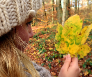 autumn, girl, and blonde hair image