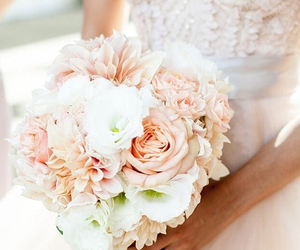 flowers, bride, and wedding image