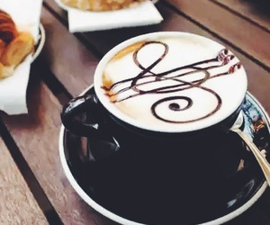 coffee, music, and vintage image