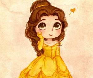 princess, disney, and belle image
