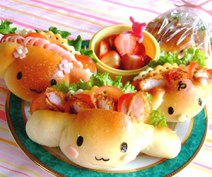 food, kawaii, and sandwich image