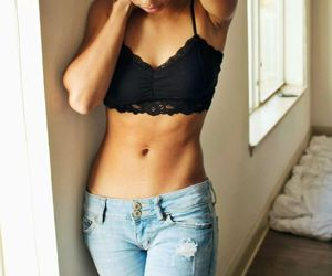 girl, body, and fit image