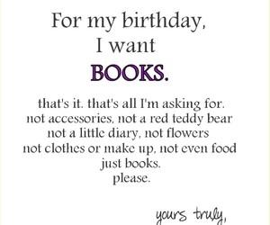 birthday, books, and bookworm image