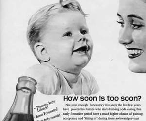 ad, babies, and coca cola image