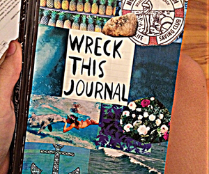 blue, ocean, and wreck this journal image