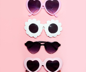 pink, fashion, and sunglasses image