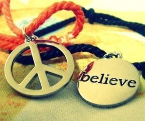 believe, peace, and bracelet image