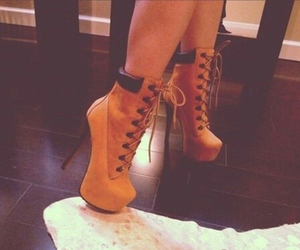 heels, shoes, and timberland image