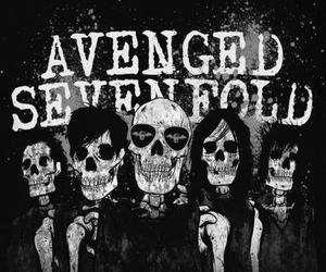 avenged sevenfold, a7x, and skull image