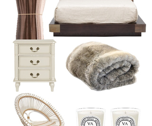 bed, bedroom, and brown image