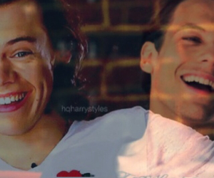 larry, 1d, and harrystyles image