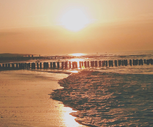 beach, beautiful, and end image