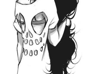 girl, hair, and skull image
