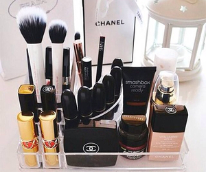 Brushes, coco chanel, and lipstick image