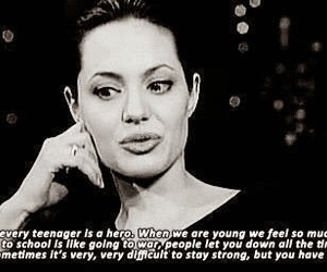 Angelina Jolie, teenager, and quotes image