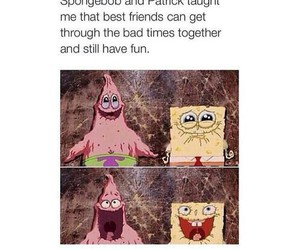 patrick, spongebob, and friendship image