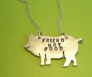 food, necklace, and pig image