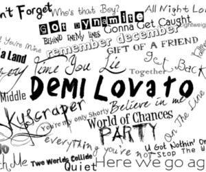 demi lovato, demi, and songs image