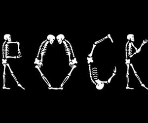 rock, skeleton, and skull image