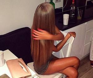 beautiful, beauty, and straight hair image
