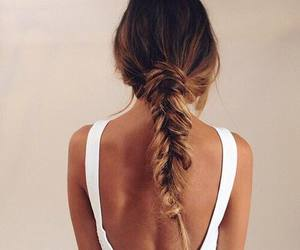 beauty, luxury, and fishtail braid image