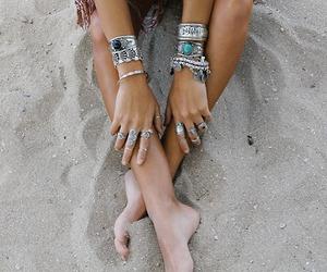 beach, bohemian, and girl image