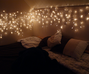 aw, bed, and lights image