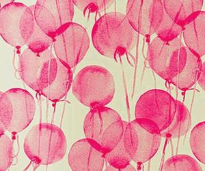balloons, pink, and wallpaper image