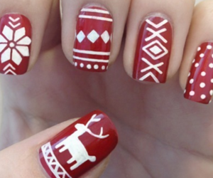 candy cane, nail art, and snow image