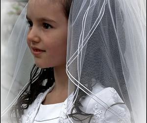 angel, flower girl, and veil image