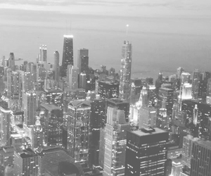 b&w, chicago, and photography image