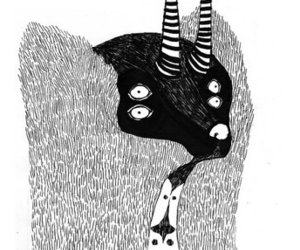 black and white, drawing, and illustration image