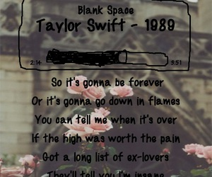 blank space, music, and pain image