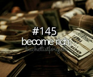 money, rich, and bucket list image
