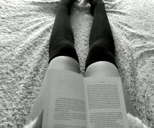 bed, book, and cosy image