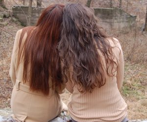brown hair, long hair, and girls image