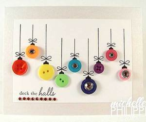 buttons, christmas, and diy image
