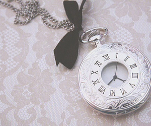 clock, necklace, and time image