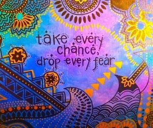 quote, chance, and fear image
