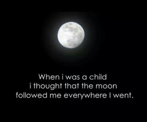 moon, quotes, and child image
