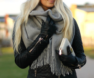 autumn, black, and blond image