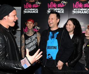 blink 182, mark hoppus, and my chemical romance image