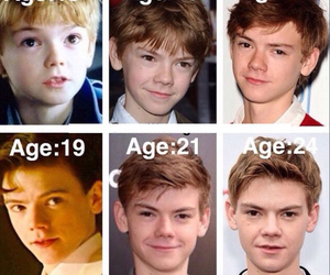 newt, thomas sangster, and age image