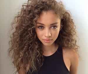 beauty, blackgirl, and brunette image