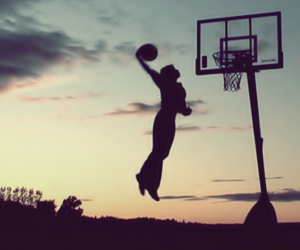 Basketball, dunk, and fly image