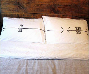 bed, love, and couple image