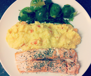 colourful, dinner, and fish image