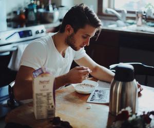 boy, breakfast, and indie image
