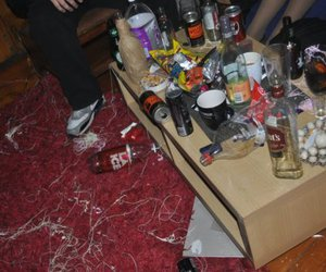 alcohol, party, and silly string image