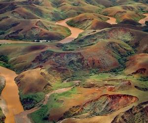 central madagascar, deforested hills, and silt laden river image